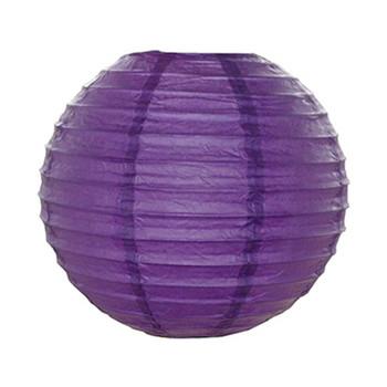 """10"""" Purple Round Paper Lantern"""