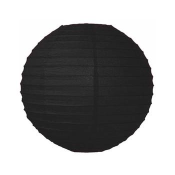 """18"""" Black Round Paper Lantern"""