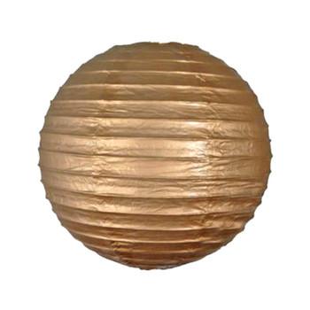 """10"""" Gold Round Paper Lantern"""