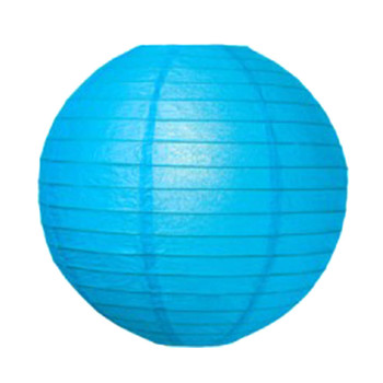 "12"" Turquoise Round Paper Lantern"
