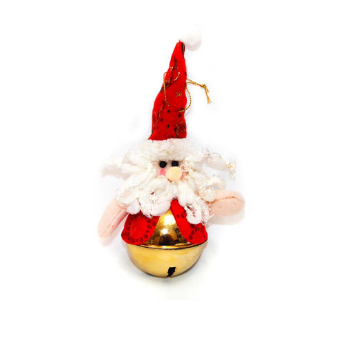 santa claus christmas bell ornament