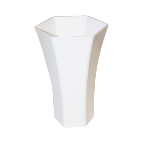 "8.25""H White Acrylic Rose Vase"