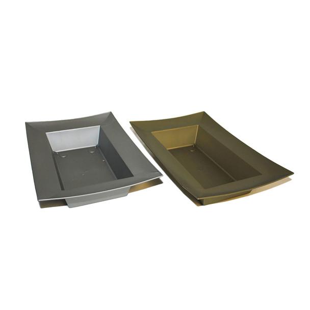Rectangular Bowl Metallic Assortment