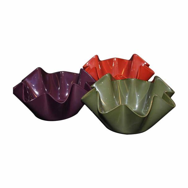 Assorted Acrylic Large Ruffle Bowl