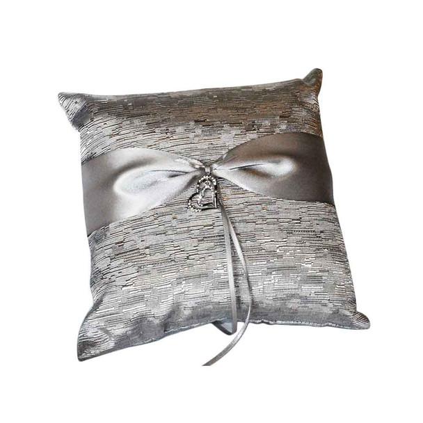 Silver Ring Bearer Pillow