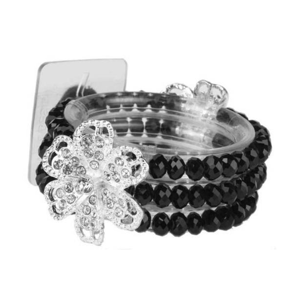 Diamond Rose Flower Bracelet