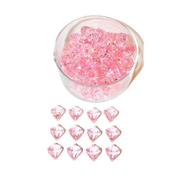 Pink Diamond Acrylic Crystal