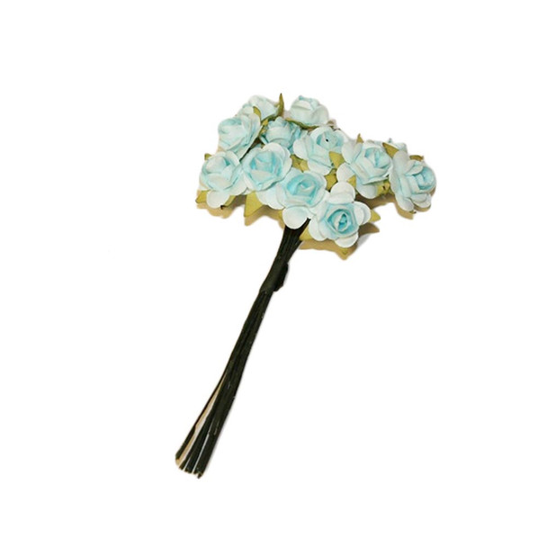 Light Blue Paper Flowers
