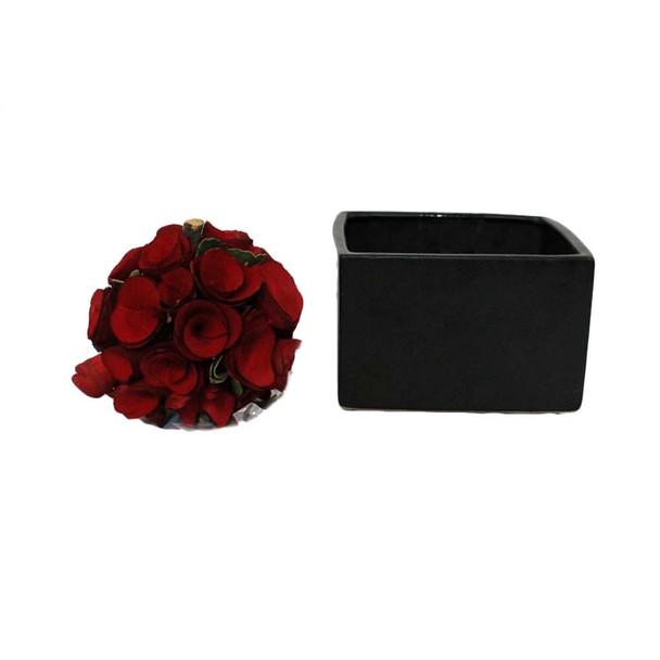 """6"""" Black Ceramic Cube"""