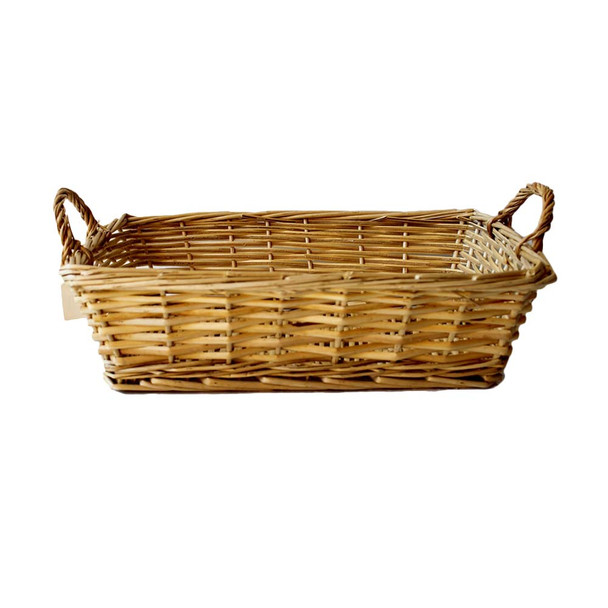 """15"""" Rectangular Willow Tray Basket With Ears"""