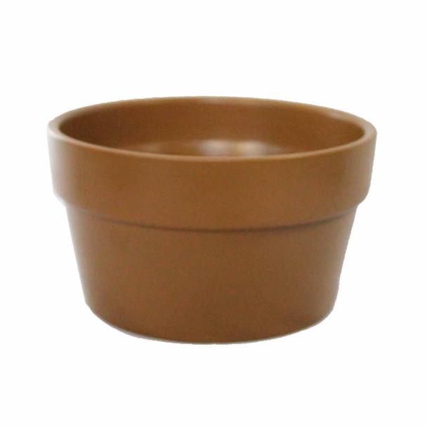 "4.25""H Brown Ceramic Pot Planter"
