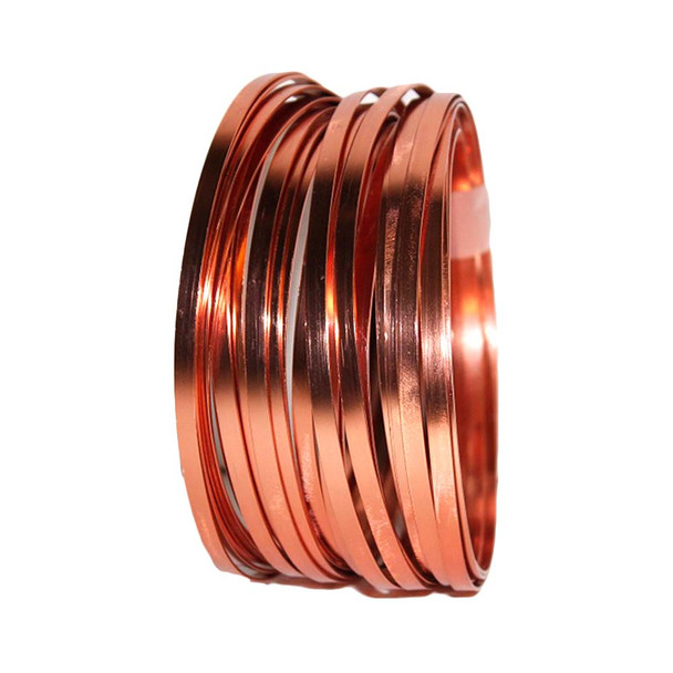 5 MM Gauge Copper Flat Decorative Wire 29.5 Ft