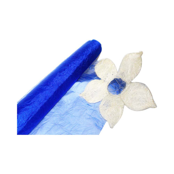 "24"" Royal Blue Crinkle Sheer"