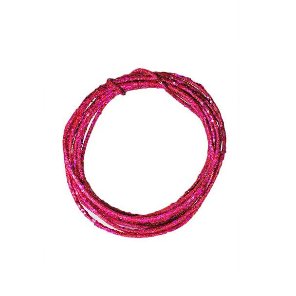 25' Fuchsia Laser Glamour Rope