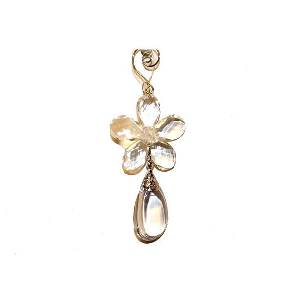 "6.3"" Flower Droplet Deco"