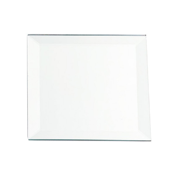 "10"" Square Beveled Mirror Plate"