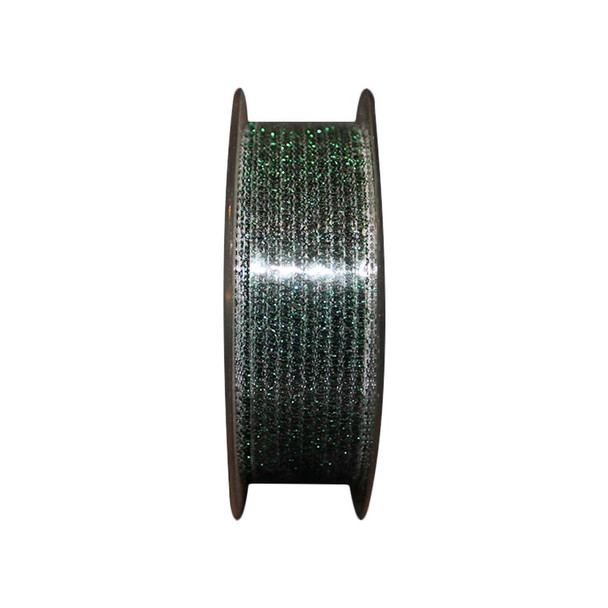 "1"" Green Glittered  Curling Ribbon"