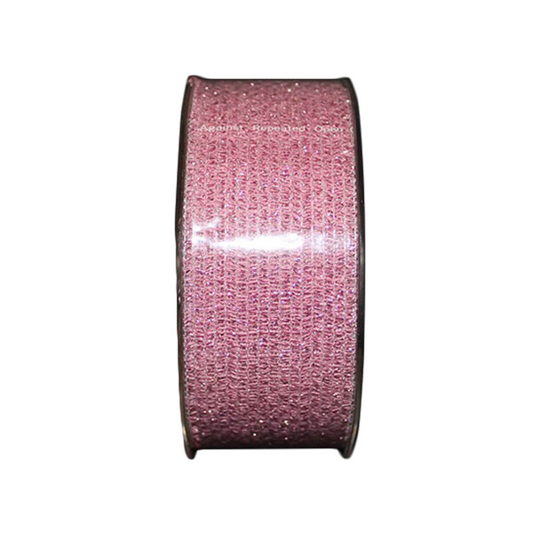 "1.5"" Pink Glittered Curling Ribbon"