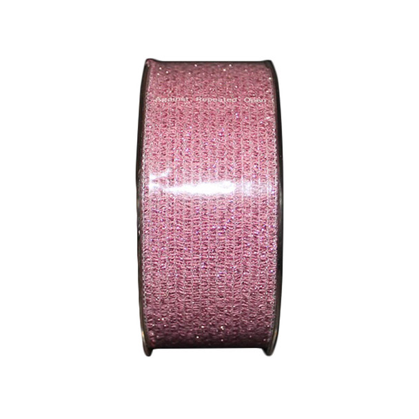 "1.5"" Pink Glittered Curling Ribbon"