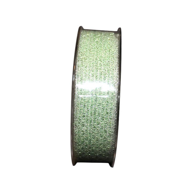 "1"" Light Green Glittered Curling Ribbon"