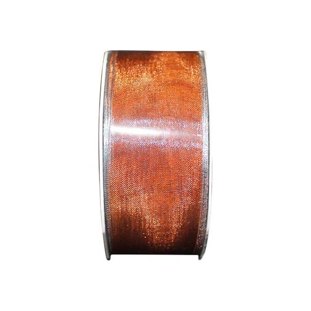 "1.5"" Copper Metallic Sheer Ribbon"