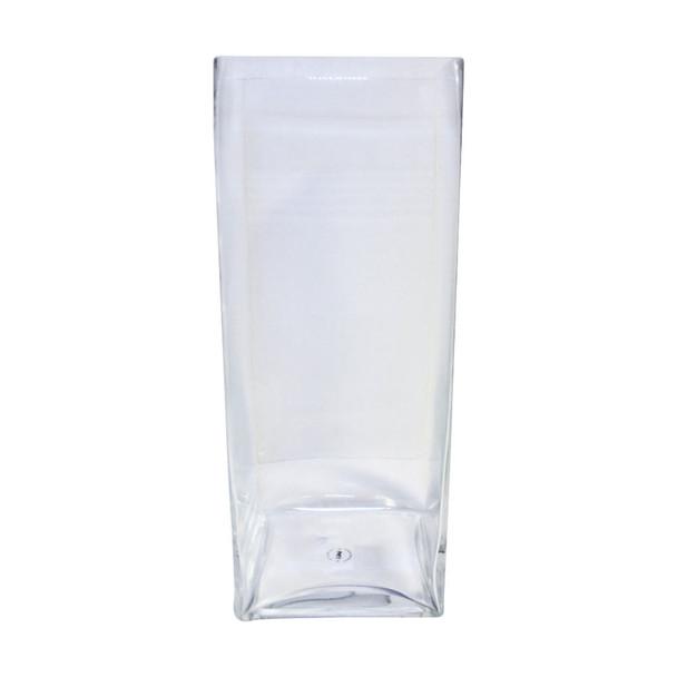 "20"" H Glass Square Block Vase"