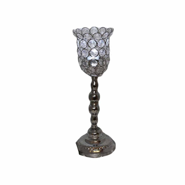 "13.4"" Beaded Candle Holder"