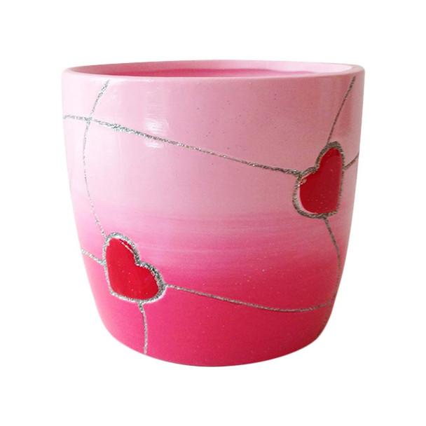 """4.5"""" Round Valentine Ceramic Pot"""