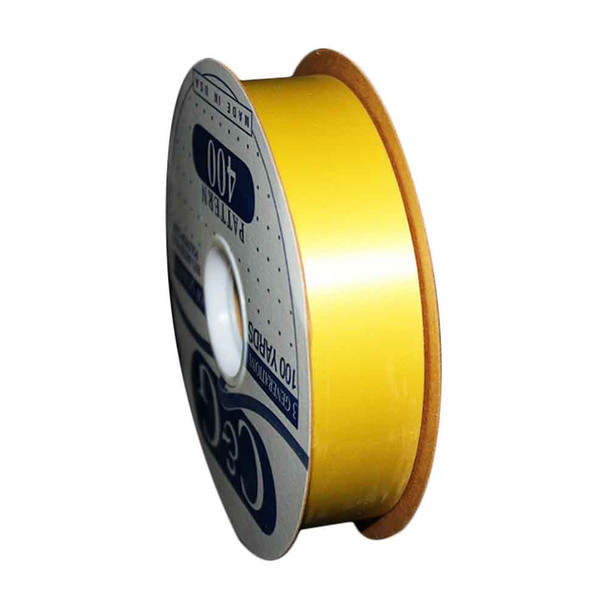 "1 7/16"" Yellow Flora-Satin Ribbon"