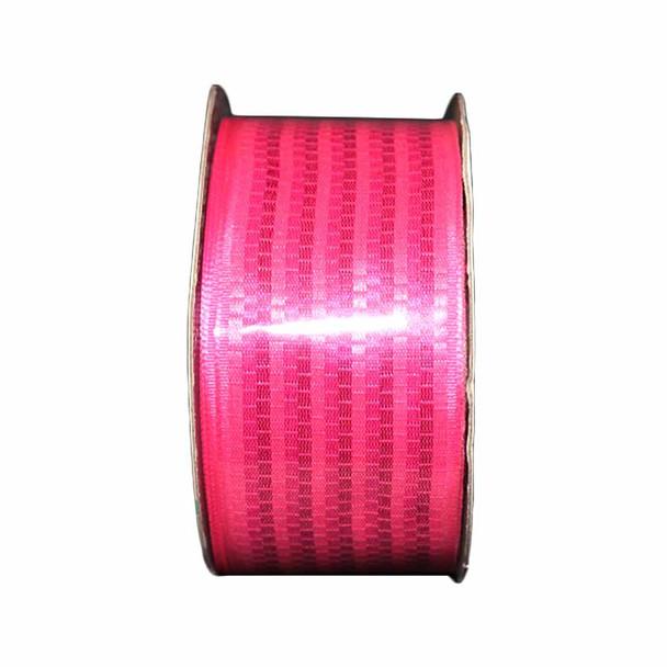 "1.5"" Fuchsia Wicker Stripes Ribbon"