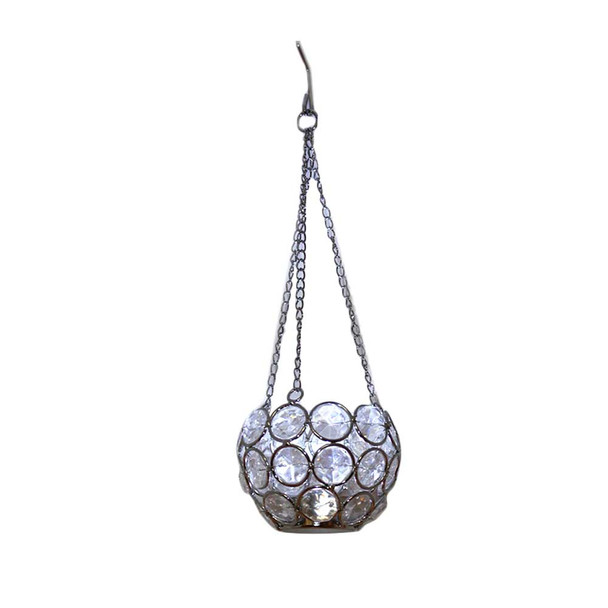 "11.4"" Hanging Beaded Candle Holder"