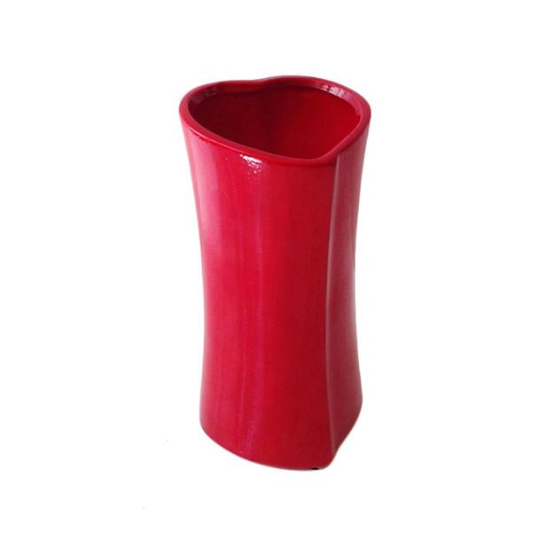 "7""H Heart Ceramic Vase"
