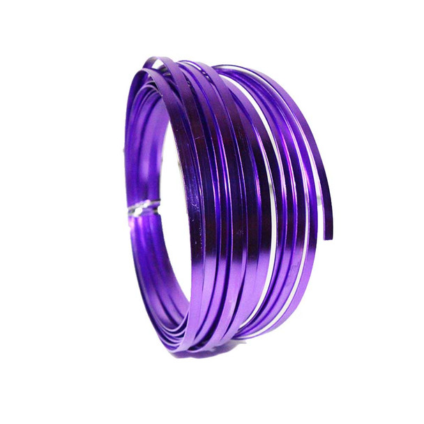 5 MM Gauge Purple Flat Decorative Wire 29.5 Ft