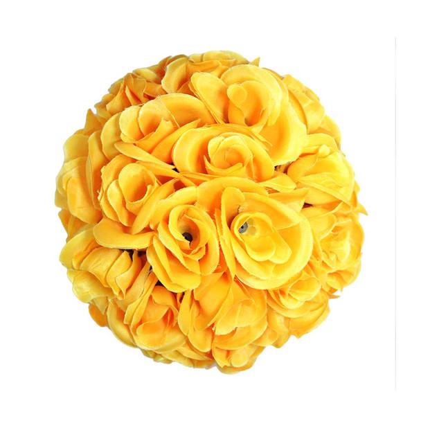 """7.5"""" Yellow Flower Ball"""