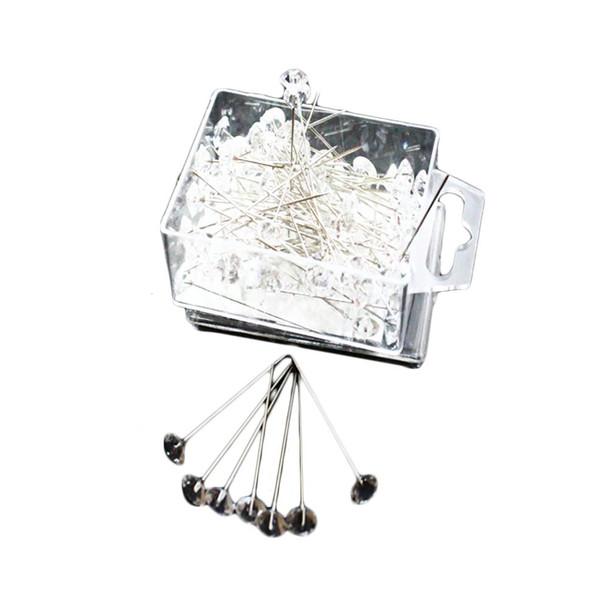 """1 1/2"""" Clear Diamond Head Pins"""