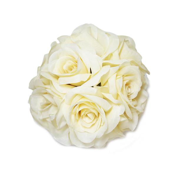 """7"""" Ivory Flower Ball"""