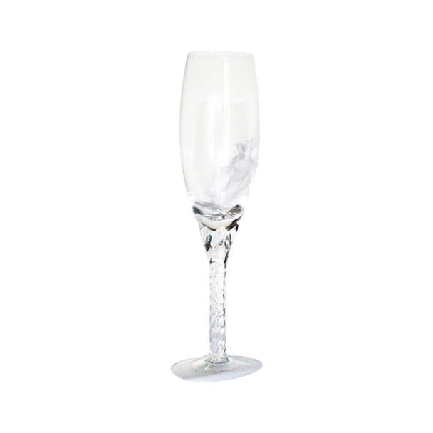 "8"" Champagne Wedding Glasses"