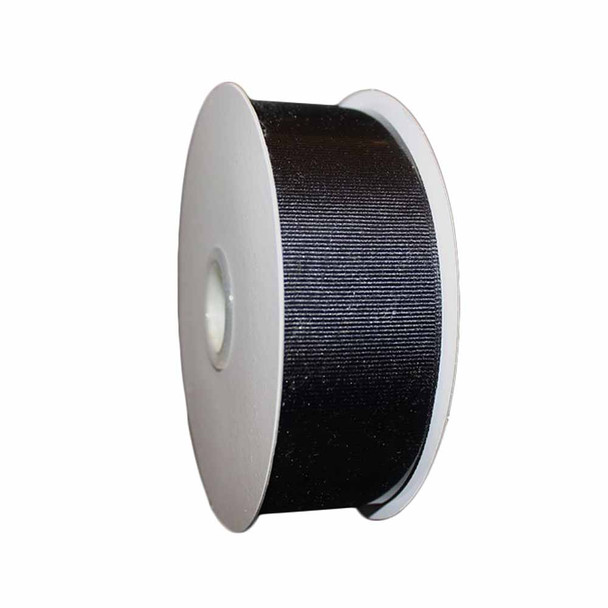 "1.5"" x 25 Yd Black Grosgrain Ribbon"