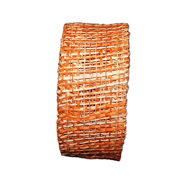 "2"" Orange Abaca Burlap Ribbon"