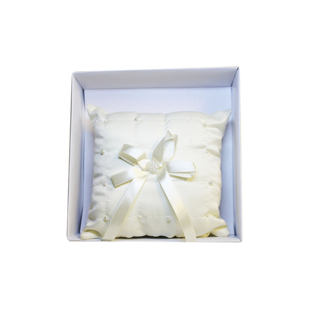 Ivory Beaded Ring Bearer Pillow