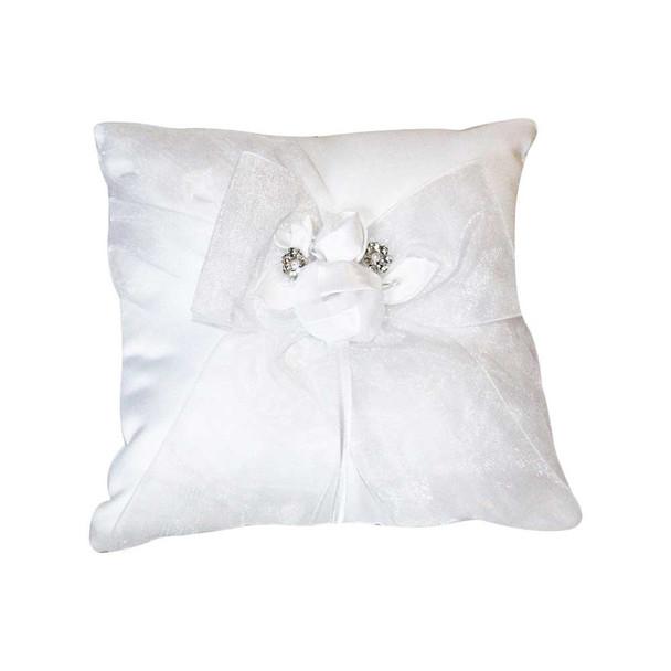 White Organza Ring Bearer Pillow