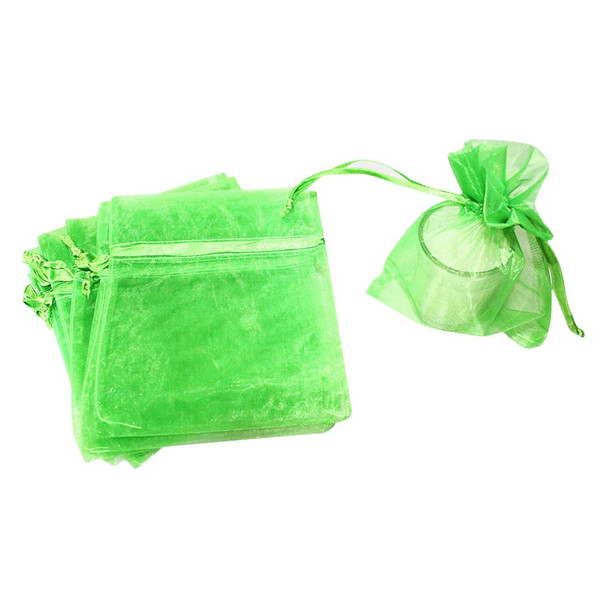 "5"" Apple Green Organza Pouch"
