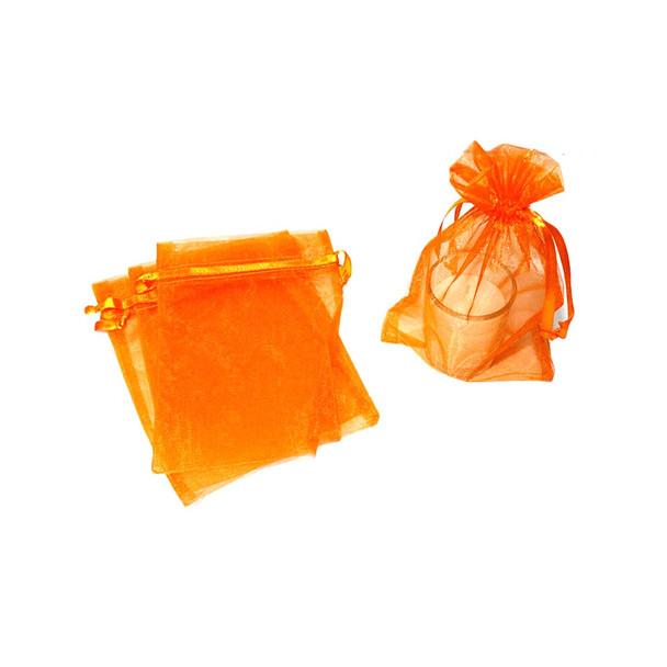 """5"""" Orange Organza Pouch"""