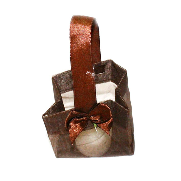 "3.25"" Chocolate Organza Pouch"