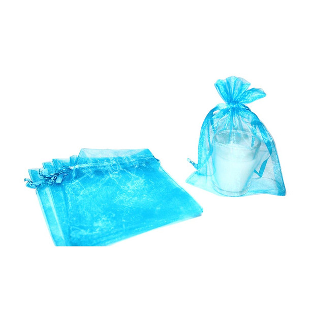 """5"""" Turquoise Organza Pouch"""