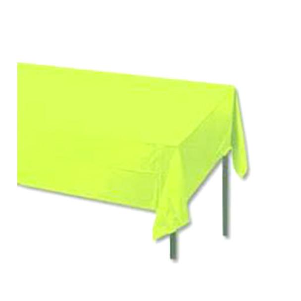 "108"" x 54"" Apple Green Rectangular Plastic Table Cover"