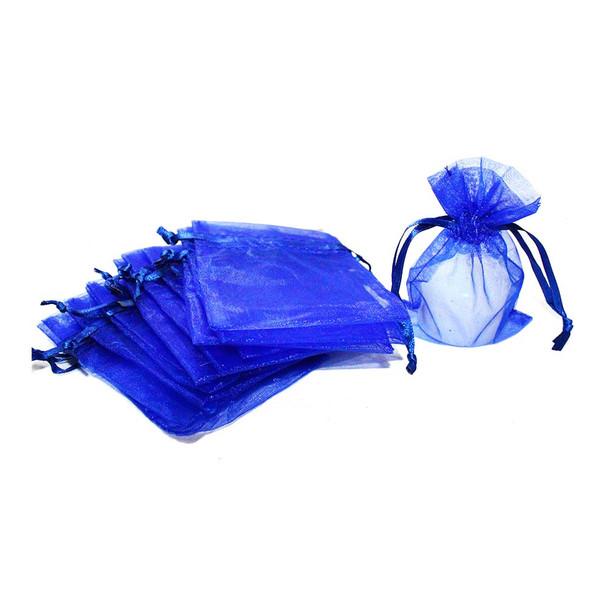 "3"" Royal Blue Organza Pouch"