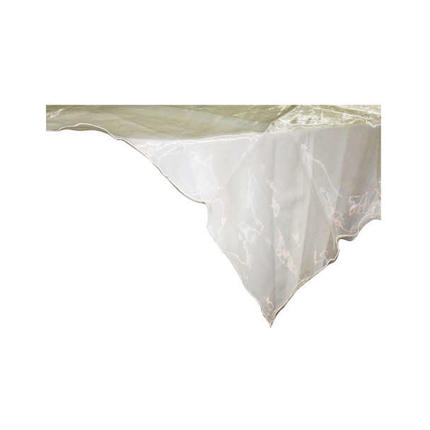 "80"" Ivory Square Organza Table Cover"