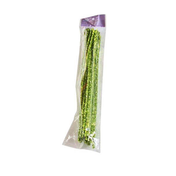 "12"" Lime Green Chenille Stems"