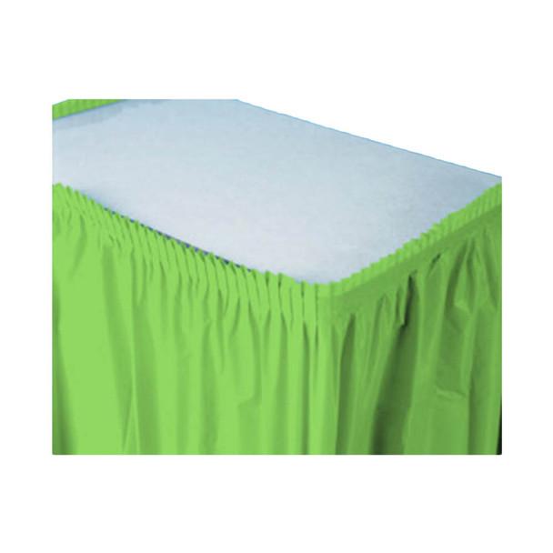 14 Ft  Apple Green Plastic Table Skirt